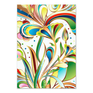 Gorgeous Swirling Flowers Card