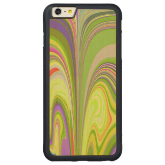 Gorgeous Swirls of Color Carved® Maple iPhone 6 Plus Bumper Case