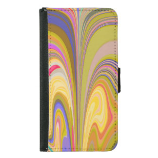 Gorgeous Swirls of Color Samsung Galaxy S5 Wallet Case