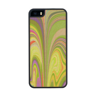 Gorgeous Swirls of Color Wood Phone Case For iPhone SE/5/5s