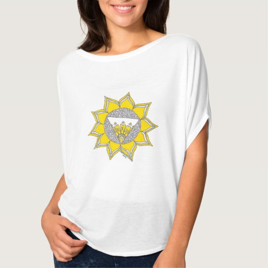 Gorgeous T-shirt featuring the solar plexus chakra