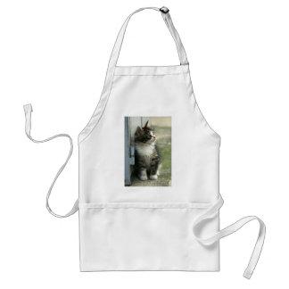Gorgeous tabby kitten design - so cute! adult apron
