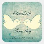 Gorgeous Teal Birdcage Wedding Stickers