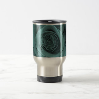 Gorgeous Teal Colored Rose Coffee Mug