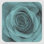 Gorgeous Teal Colored Rose Stickers