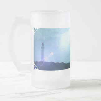 Gorgeous Towering Lighthouse Frosted Beer Mugs