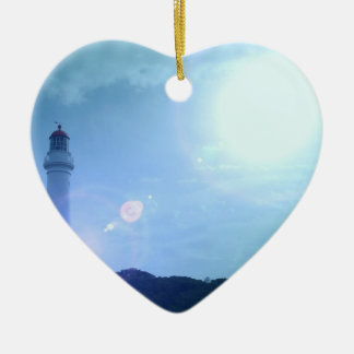Gorgeous Towering Lighthouse Christmas Ornaments