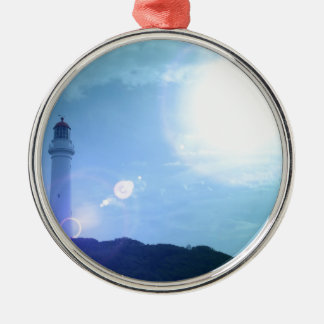 Gorgeous Towering Lighthouse Christmas Tree Ornaments