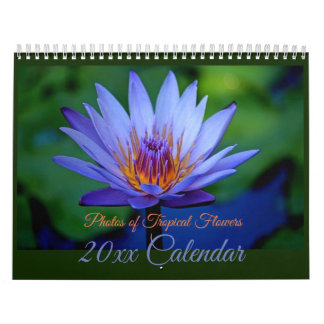 Gorgeous Tropical Flowers Calendar