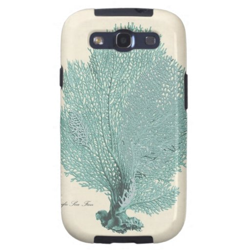 Gorgeous Turquoise/Aqua Pacific Sea Fan Samsung Galaxy SIII Case