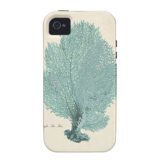 Gorgeous Turquoise Aqua Pacific Sea Fan iPhone 4/4S Covers
