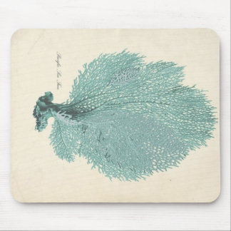 Gorgeous Turquoise/Aqua Pacific Sea Fan Mouse Pad