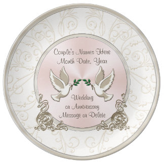 Gorgeous Unique Personalized Wedding Gift Ideas Porcelain Plate