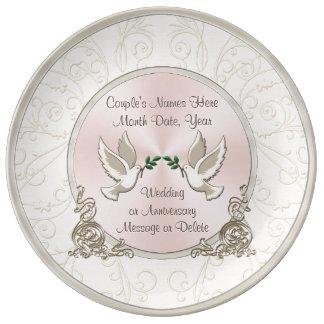 Gorgeous Unique Personalized Wedding Gift Ideas Porcelain Plate