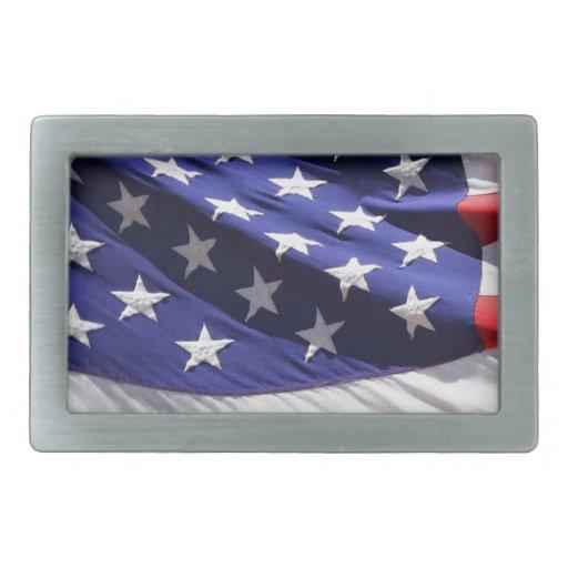 GORGEOUS USA FLAG RECTANGULAR BELT BUCKLE