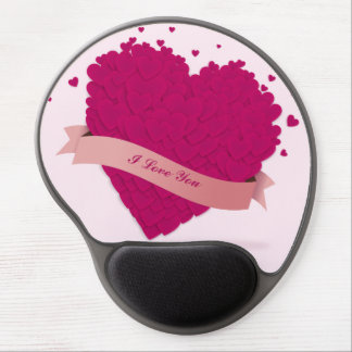 Gorgeous Valentine's day pink heart Gel Mouse Mats