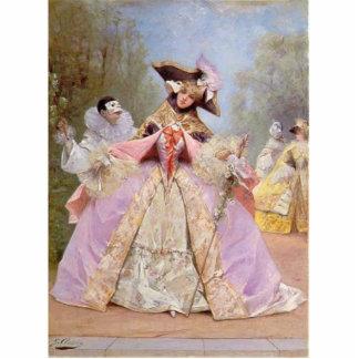 Gorgeous Victorian Masquerade Ball Fashion Costume Photo Cut Outs