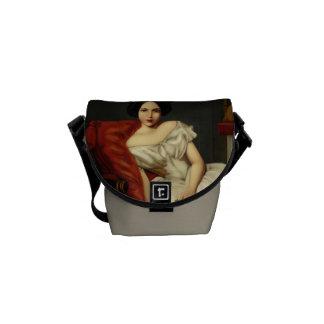Gorgeous Victorian Portrait Digital Art Courier Bags