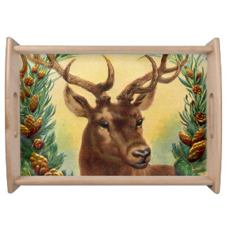 Gorgeous Vintage and Rustic Deer Serving Tray