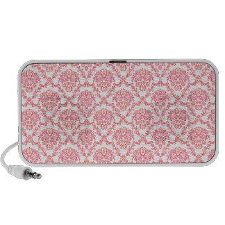 Gorgeous vintage Art Nouveau floral pink pattern Speaker System