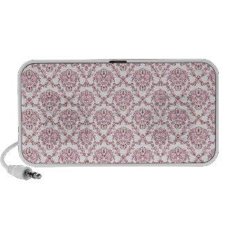 Gorgeous vintage Art Nouveau floral pink pattern Travel Speaker