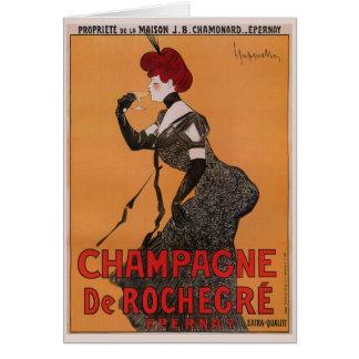 Gorgeous vintage art nouveau French champagne ad Card