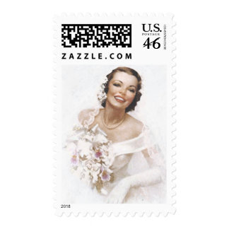 Gorgeous Vintage Bride Postage Stamps