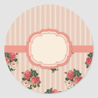Gorgeous Vintage English Floral Garden Classic Round Sticker