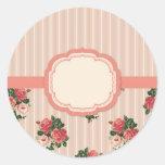 Gorgeous Vintage English Floral Garden Round Sticker