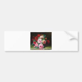 Gorgeous Vintage Flower Bumper Sticker