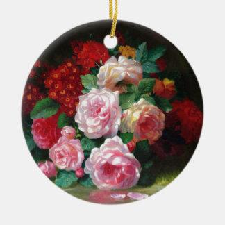 Gorgeous Vintage Flower Ceramic Ornament
