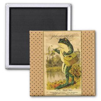 Gorgeous Vintage Frog Artwork Magnet