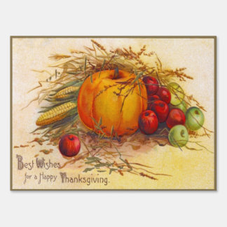 Gorgeous Vintage Harvest and Happy Thanksgiving Sign