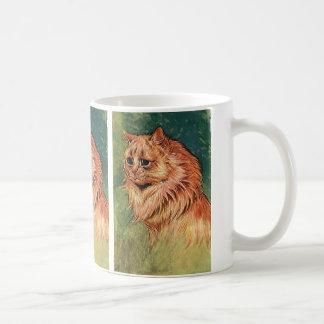 Gorgeous Vintage Long Hair Orange Cat Kitten Coffee Mug