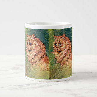 Gorgeous Vintage Long Hair Orange Cat Kitten Extra Large Mug