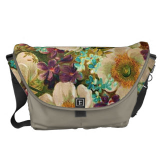 Gorgeous Vintage Mixed Floral Courier Bags