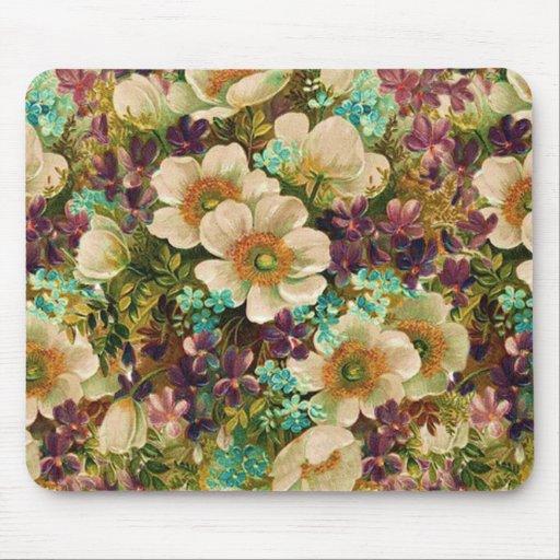 Gorgeous Vintage Mixed Floral Mouse Pad