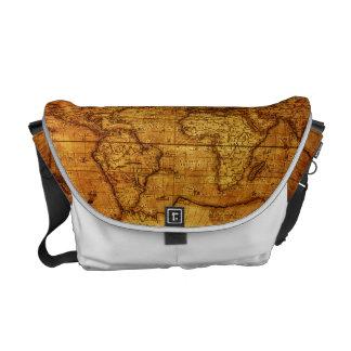 Gorgeous Vintage old world Maps Messenger Bag