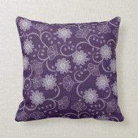 Gorgeous Vintage Purple and Lavender Floral Pillows