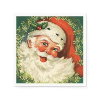 Gorgeous Vintage Santa Claus Image Disposable Napkins