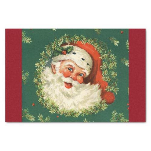 Gorgeous Vintage Santa Claus Image Tissue Paper