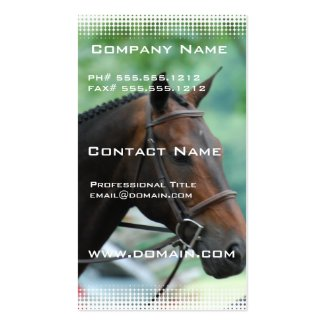 Horse custom business cards equestrian business cards haihorsie gorgeous warmblood horse business card colourmoves