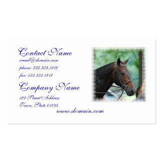 Gorgeous Warmblood Horse Mailing Labels Business Card Templates