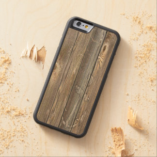 GORGEOUS WEATHERED Old WOOD WITH RUSTIC ANCHOR Carved Maple iPhone 6 Bumper Case