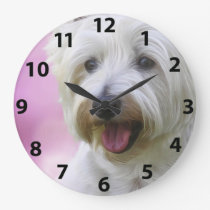 Gorgeous Westie Face Large Clock