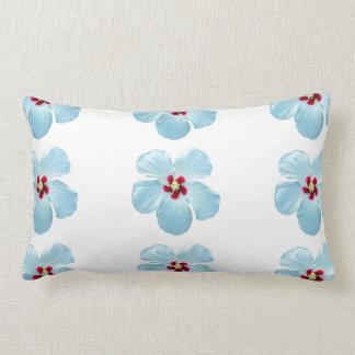 Gorgeous White Hawaiian Hibiscus Flower Pillow