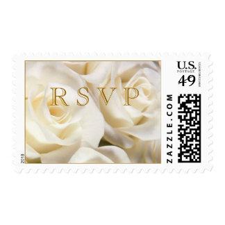 Gorgeous white rose RSVP Postage stamp