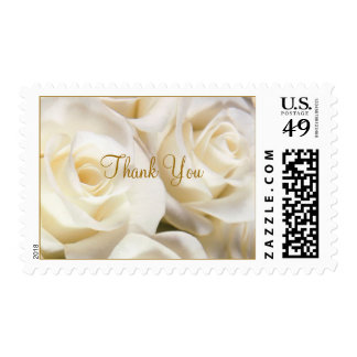 Gorgeous white rose Thank You Postage stamp