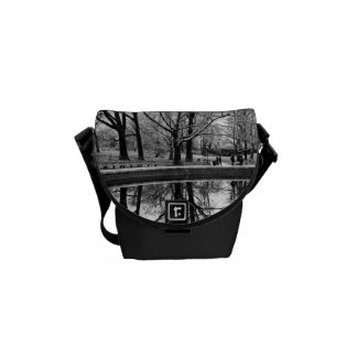 Gorgeous Winter Landscape in Central Park Messenger Bags