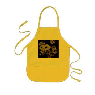 Gorgeous Yellow Daisies Dark, Old World Style Kids' Apron